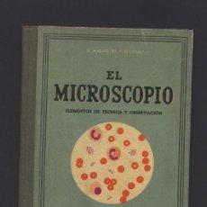Libros de segunda mano: EL MICROSCOPIO. S.MALUQUER Y NICOLAU. ELEMENTOS DE TECNICA Y OBSERVACION. SEIX Y BARRAL. 1940.. Lote 45795403