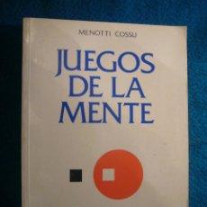Libros de segunda mano de Ciencias: MENOTTI COSSU: - JUEGOS DE LA MENTE - (MADRID, 1990). Lote 45847602