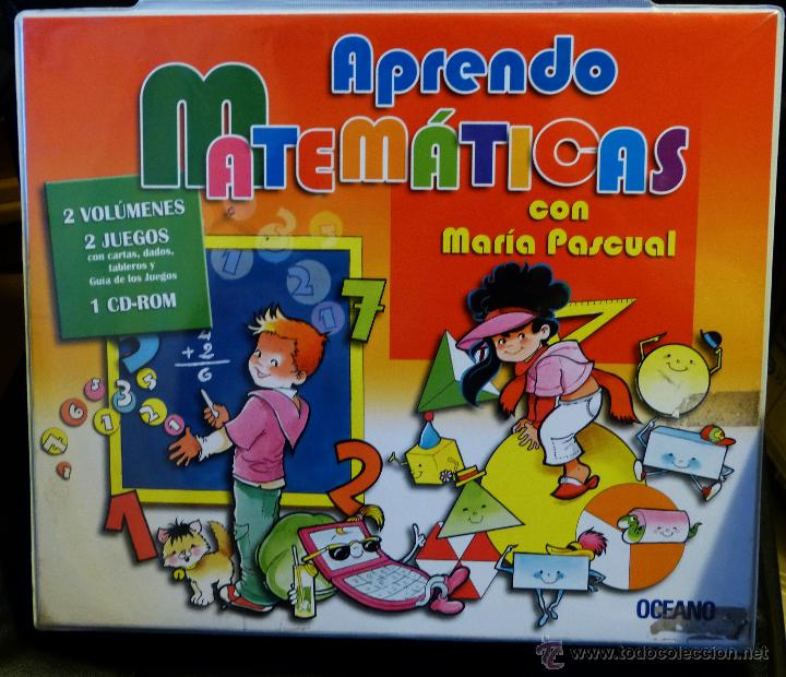 APRENDE MATEMÁTICAS CON MARÍA PASCUAL (DE OCEANO) 2 LIBROS 2 JUEGOS 1 CD (NUEVO) (Libros de Segunda Mano - Ciencias, Manuales y Oficios - Física, Química y Matemáticas)
