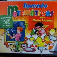 Libros de segunda mano de Ciencias: APRENDE MATEMÁTICAS CON MARÍA PASCUAL (DE OCEANO) 2 LIBROS 2 JUEGOS 1 CD (NUEVO). Lote 46500914