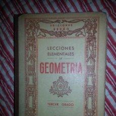 Libros de segunda mano de Ciencias: LECCIONES ELEMENTALES DE GEOMETRÍA. Lote 46674363