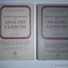 Libros de segunda mano de Ciencias: MÉTODOS SELECCIONADOS DE ANÁLISIS CLÍNICOS I Y II 1960 61 ASOC. NORTEAMERIC. ANAL. CLIN. AGUILAR. Lote 46681693