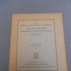 Libros de segunda mano de Ciencias: SOBRE OBSERVACIONES DE PASOS POR DOS VERTICALES. Lote 46928480
