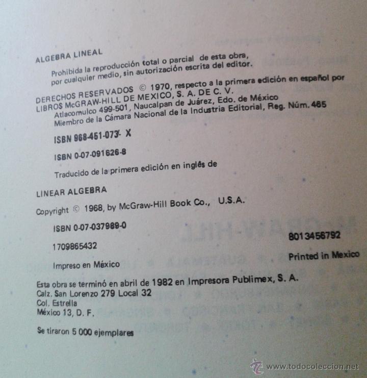 Libros de segunda mano de Ciencias: ALGEBRA LINEAL. TEORIA Y 600 PROBLEMAS RESUELTOS - Foto 2 - 47040930