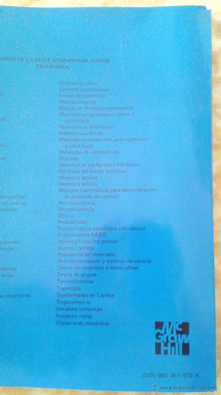 Libros de segunda mano de Ciencias: ALGEBRA LINEAL. TEORIA Y 600 PROBLEMAS RESUELTOS - Foto 3 - 47040930