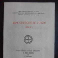 Libros de segunda mano: MAPA GEOLOGICO DE ASTURIAS. HOJA Nº 5. ESTUDIO GEOLOGICO DE LOS ALREDEDORES DE AVILES (ASTURIAS). OV. Lote 47399747