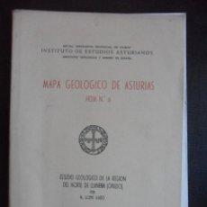 Libros de segunda mano: MAPA GEOLOGICO DE ASTURIAS. HOJA Nº 6. ESTUDIO GEOLOGICO DE LA REGION DEL NORTE DE LLANERA (OVIEDO). Lote 47399794