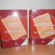 Libros de segunda mano de Ciencias: MATEMATICAS ESPECIALES 2 VOLUMENES. Lote 47581689