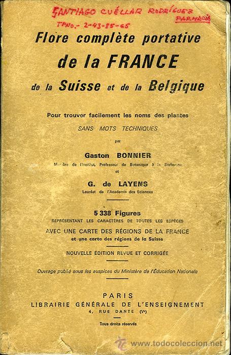 Carte Belgique Complete.Gaston Bonnier Et G De Layens Flore Complete Portative De La France De La Suisse Et De La Belgique