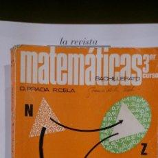 Libros de segunda mano de Ciencias: MATEMÁTICAS. 3ER. CURSO DE BACHILLERATO (MADRID, 1971). Lote 47648551