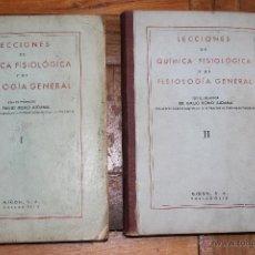 Libros de segunda mano de Ciencias: LECCIONES DE QUIMICA FISIOLOGICA Y DE FISIOLOGIA GENERAL POR DR. EMILO ROMO ALDAMA - 2 TOMOS. Lote 47864149