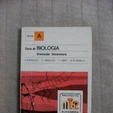 Libros de segunda mano: CURSO DE BIOLOGÍA - ORIENTACIÓN UNIVERSITARIA. Lote 47886869
