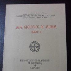 Libros de segunda mano: MAPA GEOLOGICO DE ASTURIAS. HOJA Nº 5. ESTUDIO GEOLOGICO DE LOS ALREDEDORES DE AVILES (ASTURIAS). OV. Lote 47940752