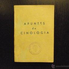 Livres d'occasion: APUNTES DE CINOLOGIA, ESCUELA DE ADIESTRAMIENTO DE PERROS. Lote 47968940