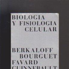 Libros de segunda mano de Ciencias: BIOLOGÍA Y FISIOLOGÍA CELULAR - COLECCIÓN MÉTODOS & OMEGA EDITORIAL 1976. Lote 48522256