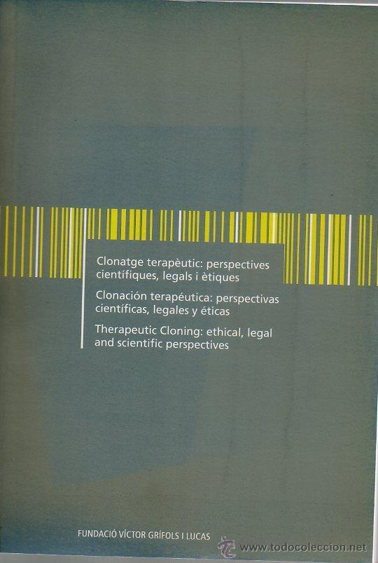 clonación terapéutica: perspectivas científicas - Comprar Libros de ...