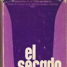 Libros de segunda mano de Ciencias: EL SECADO FRIEDRICH KNEULE TOMO 1. Lote 48899539