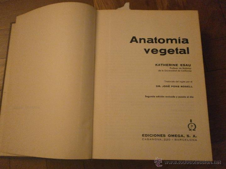 anatomía vegetal- katherine esau. 2ª edición. e - Comprar Libros de ...