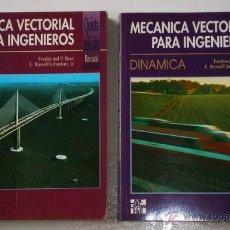 Libros de segunda mano de Ciencias: MECÁNICA VECTORIAL PARA INGENIEROS 2T POR BEER Y JOHNSTON DE MCGRAW HILL EN MADRID 1996. Lote 49259918