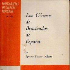 Libros de segunda mano: LOS GÉNEROS DE BRACÓNIDOS DE ESPAÑA. IGNACIO DOCAVO ALBERTI. C.S.I.C., 1960. Lote 49394974