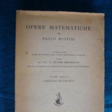 Libros de segunda mano de Ciencias: PAOLO RUFFINI (1765-1822): - OPERE MATEMATICHE - (VOL. III : CARTEGIO MATEMATICO) (ROMA, 1954). Lote 49519581