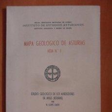 Libros de segunda mano: MAPA GEOLOGICO DE ASTURIAS. HOJA Nº 5. ESTUDIO GEOLOGICO DE LOS ALREDEDORES DE AVILES (ASTURIAS). OV. Lote 95261384