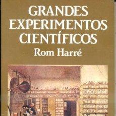 Libros de segunda mano de Ciencias: ROM HARRÉ : GRANDES EXPERIMENTOS CIENTÍFICOS (LABOR, 1986). Lote 49747050