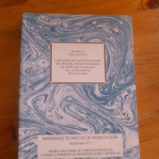 Libri di seconda mano: CATALOGO DE LAS COLECCIONES AVES MUSEO NACIONAL. BARREIRO. CSIC. 1998 250 PAG. Lote 49764291