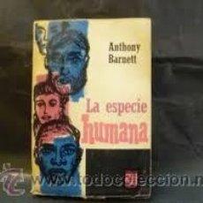 Libros de segunda mano: LA ESPECIE HUMANA ANTHONY BARNETT 1ºEDICION 1966 FONDO CULTURA ECONOMICA. Lote 49770027
