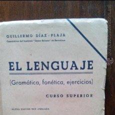 Libros de segunda mano de Ciencias: EL LENGUAJE,CURSO SUPERIOR. Lote 49849300