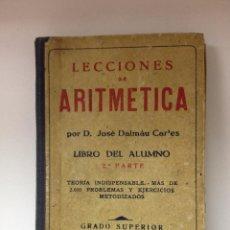 Libros de segunda mano de Ciencias: LECCIONES DE ARITMÉTICA . Lote 49993732
