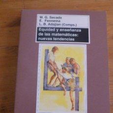 Libros de segunda mano de Ciencias: EQUIDAD Y ENSEÑANZA DE LAS MATEMATICAS. NUEVAS TENDENCIAS. SECADA, FENNEMA Y ADAJIAN. ED.MORATA1997 . Lote 50026289
