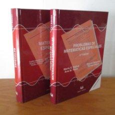 Libros de segunda mano de Ciencias: MATEMATICAS ESPECIALES. PROBLEMAS DE MATEMATICAS ESPECIALES. DOS TOMOS. 2º EDICION. ED.SANZ Y TORRES. Lote 50069640