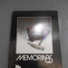 Libros de segunda mano: MEMORIA 85. INSTITUTO GEOLOGICO Y MINERO DE ESPAÑA.. Lote 50139812