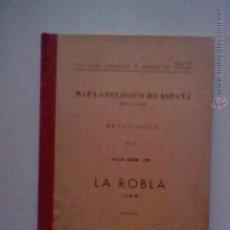 Libros de segunda mano: MAPA GEOLOGICO LA ROBLA LEON HOJA 129 CON PLANOS 1963. Lote 50140490