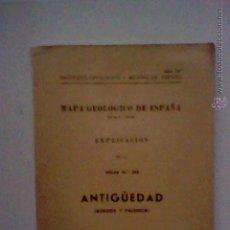 Libros de segunda mano: MAPA GEOLOGICO ANTIGUEDAD BURGOS PALENCIA 1953 HOJA 313 CON PLANOS 1963. Lote 50140525