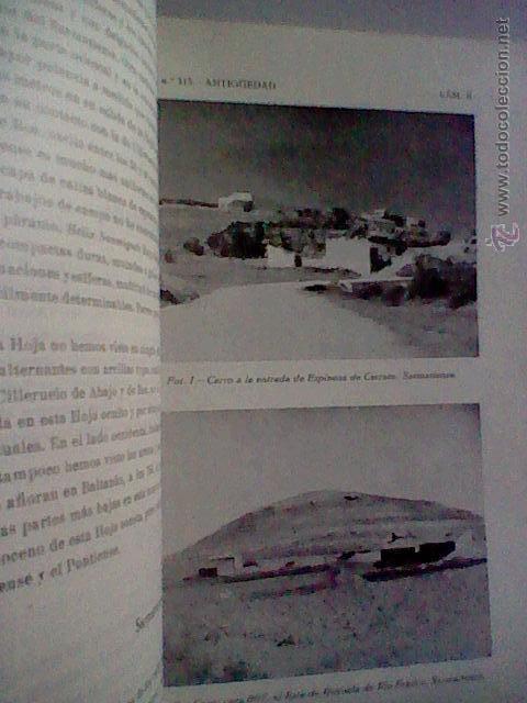 Libros de segunda mano: MAPA GEOLOGICO ANTIGUEDAD BURGOS PALENCIA 1953 HOJA 313 CON PLANOS 1963 - Foto 5 - 50140525