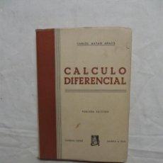 Libros de segunda mano de Ciencias: CALCULO DIFERENCIAL POR CARLOS MATAIX ARACIL. Lote 50151728
