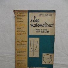 Libros de segunda mano de Ciencias - LAS MATEMATICAS PERO SI SON MUY FACILES POR FRED KLINGER - 50173218