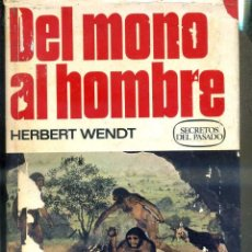 Libros de segunda mano: WENDT : DEL MONO AL HOMBRE (BRUGUERA, 1976) PRIMERA EDICIÓN. Lote 50227697