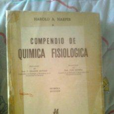 Libros de segunda mano de Ciencias: COMPENDIO DE QUIMICA FISIOLÓGICA PRIMERA EDICIÓN 1953. Lote 50337199