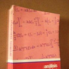Libros de segunda mano de Ciencias: ANÁLISIS NUMÉRICO. CURTIS F. GERALD. 1982. MEXICO. 631 PP.. Lote 50453207