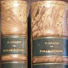 Libros de segunda mano: COLOM, G. Y OTROS: FORAMINIFEROS. RECOPILACIÓN DE ESTUDIOS. Lote 50550727