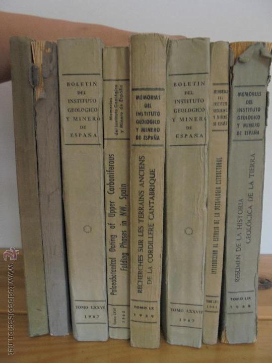 Libros de segunda mano: INSTITUTO GEOLOGICO Y MINERO DE ESPAÑA 7 TOMOS. MAPA GEOLOGICO DE ESPAÑA HOJA DE CANTILLANA. VER FOT - Foto 3 - 50677268