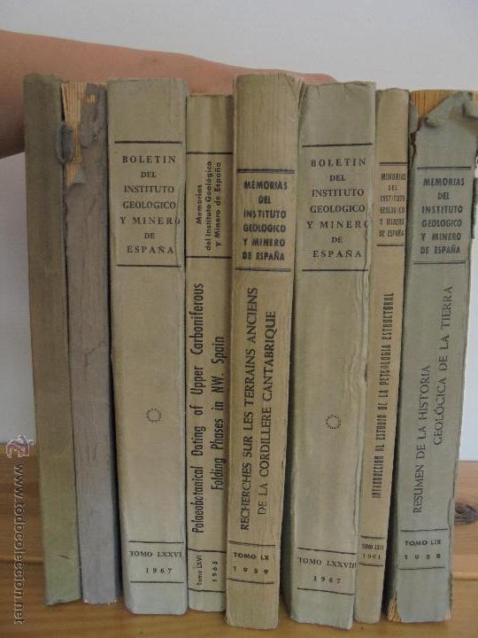 Libros de segunda mano: INSTITUTO GEOLOGICO Y MINERO DE ESPAÑA 7 TOMOS. MAPA GEOLOGICO DE ESPAÑA HOJA DE CANTILLANA. VER FOT - Foto 4 - 50677268