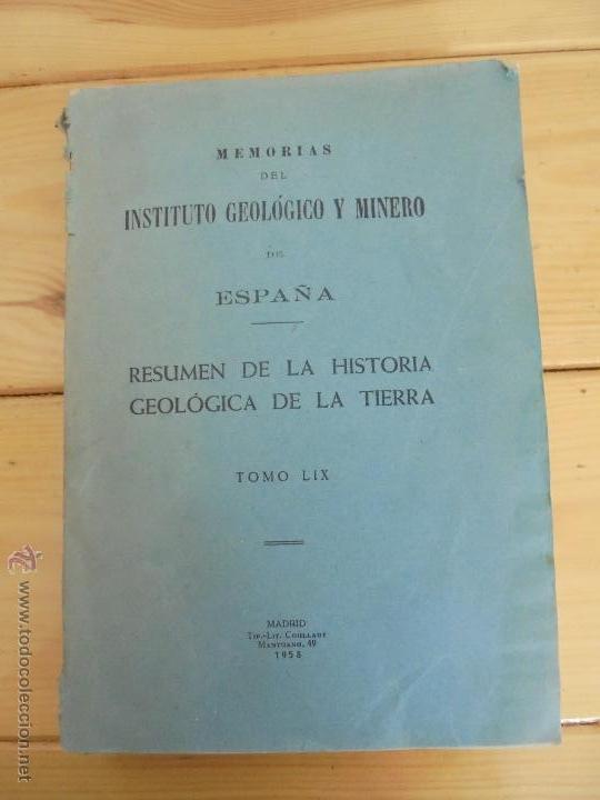 Libros de segunda mano: INSTITUTO GEOLOGICO Y MINERO DE ESPAÑA 7 TOMOS. MAPA GEOLOGICO DE ESPAÑA HOJA DE CANTILLANA. VER FOT - Foto 5 - 50677268