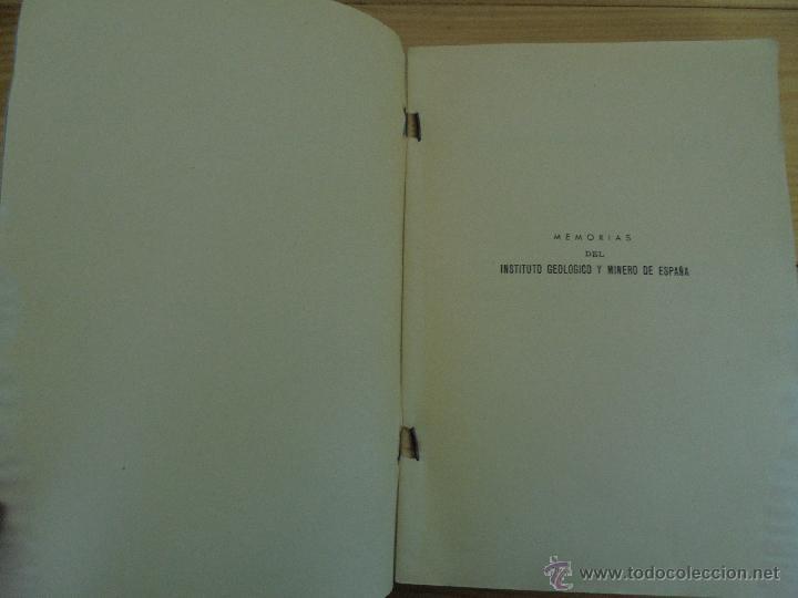 Libros de segunda mano: INSTITUTO GEOLOGICO Y MINERO DE ESPAÑA 7 TOMOS. MAPA GEOLOGICO DE ESPAÑA HOJA DE CANTILLANA. VER FOT - Foto 13 - 50677268