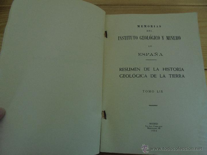 Libros de segunda mano: INSTITUTO GEOLOGICO Y MINERO DE ESPAÑA 7 TOMOS. MAPA GEOLOGICO DE ESPAÑA HOJA DE CANTILLANA. VER FOT - Foto 14 - 50677268