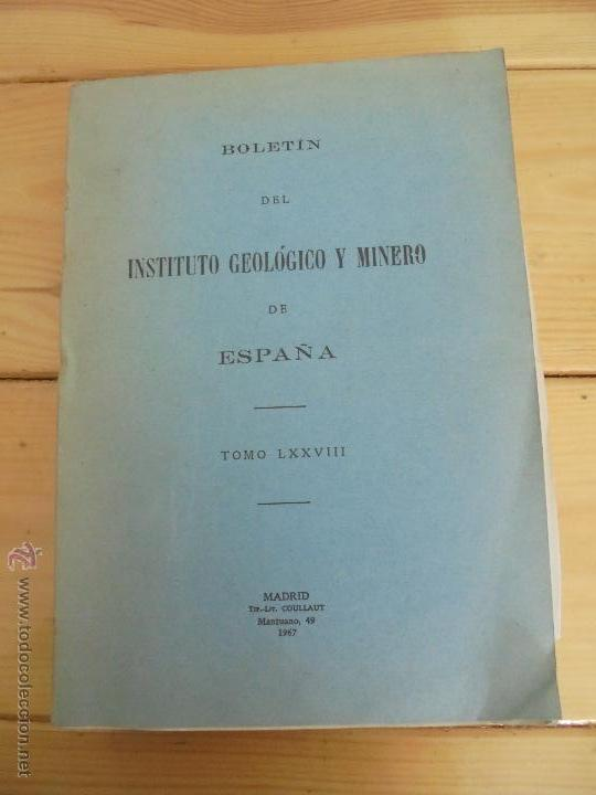 Libros de segunda mano: INSTITUTO GEOLOGICO Y MINERO DE ESPAÑA 7 TOMOS. MAPA GEOLOGICO DE ESPAÑA HOJA DE CANTILLANA. VER FOT - Foto 48 - 50677268