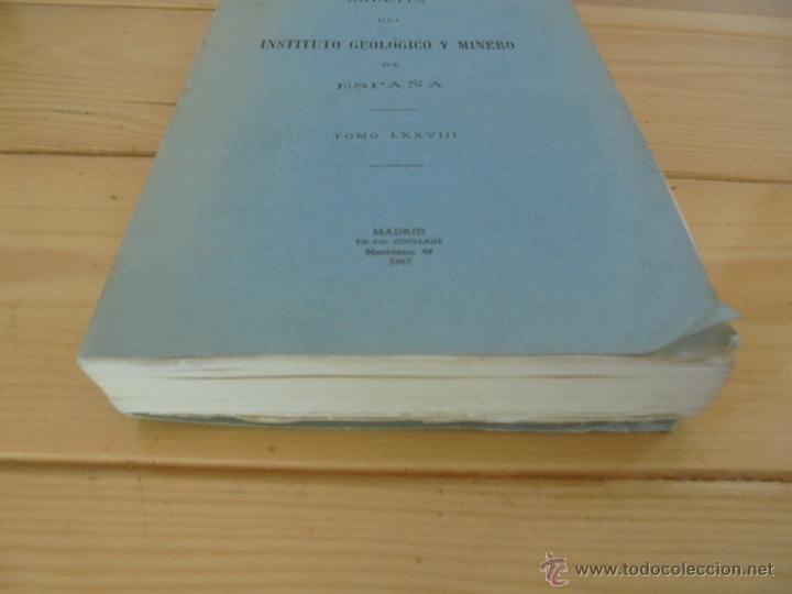 Libros de segunda mano: INSTITUTO GEOLOGICO Y MINERO DE ESPAÑA 7 TOMOS. MAPA GEOLOGICO DE ESPAÑA HOJA DE CANTILLANA. VER FOT - Foto 49 - 50677268